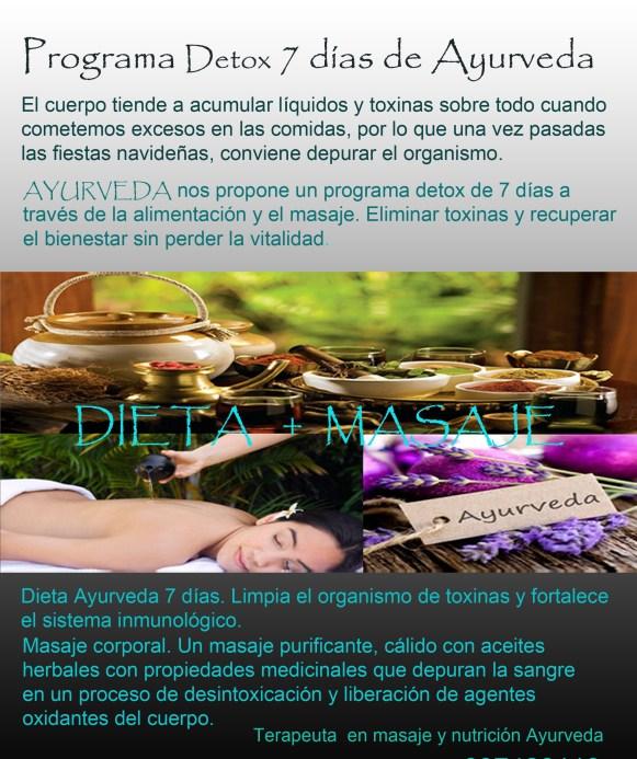 detox dieta y masaje
